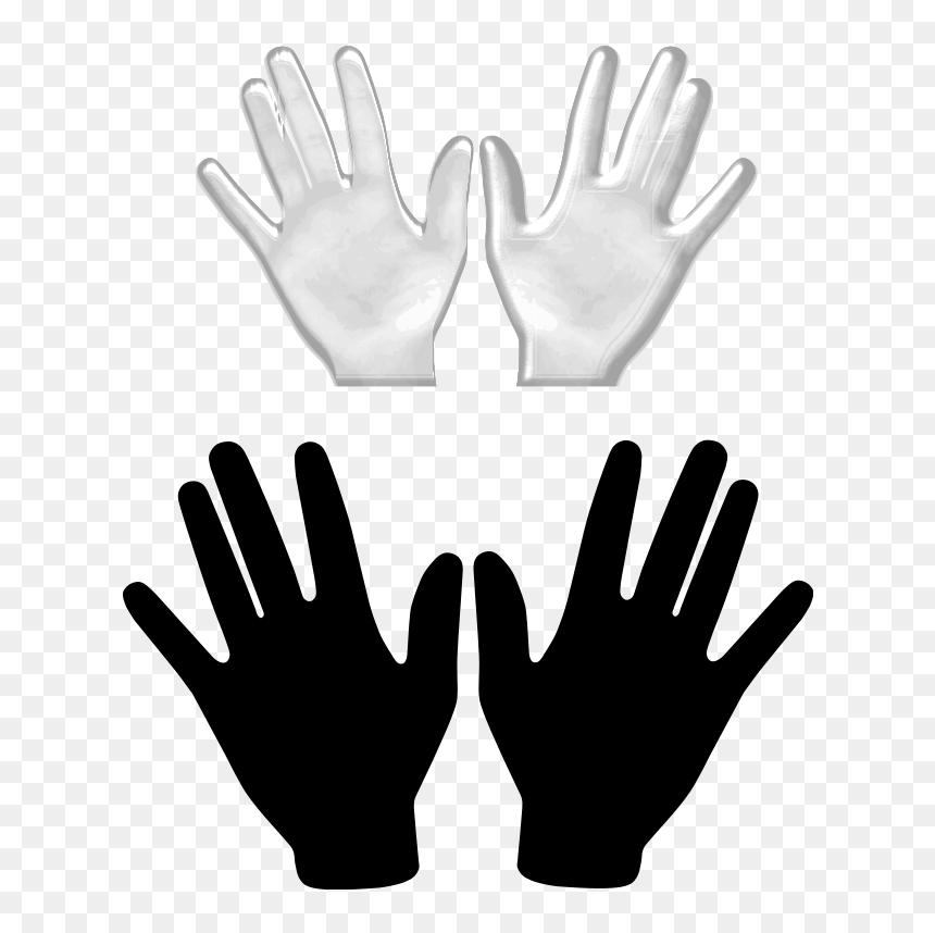 Free Hands Vector, Free Vector Hand, Illustration Vector - 2 Hands Clip Art, HD Png Download
