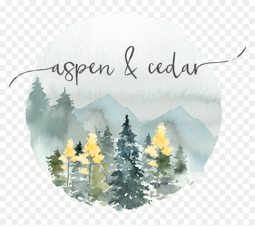 Aspen Forest - Watercolor Painting, HD Png Download