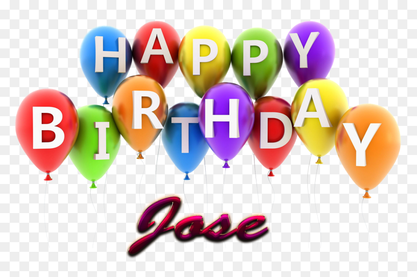 Jose Happy Birthday Balloons Name Png - Happy Birthday Pooja Png, Transparent Png