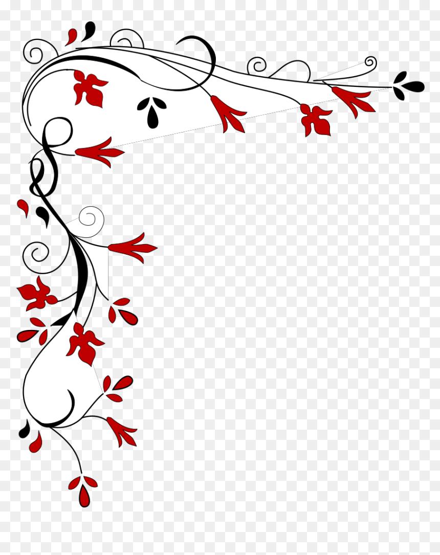 Border Floral Design Png, Transparent Png