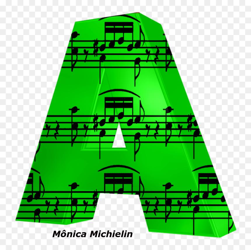 Alfabeto Notas Musicais E Fundo Verde Png - Music Notes Clip Art, Transparent Png
