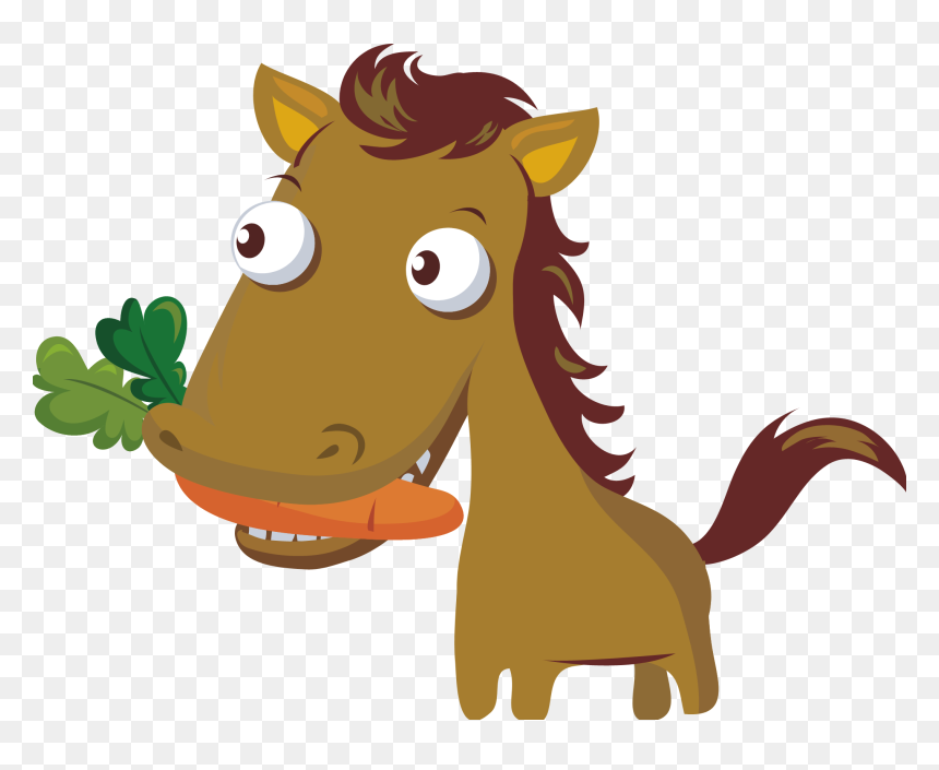 Carrot Clipart Horse Horse Eating Carrot Cartoon Hd Png Download 2097x1623 Png Dlf Pt