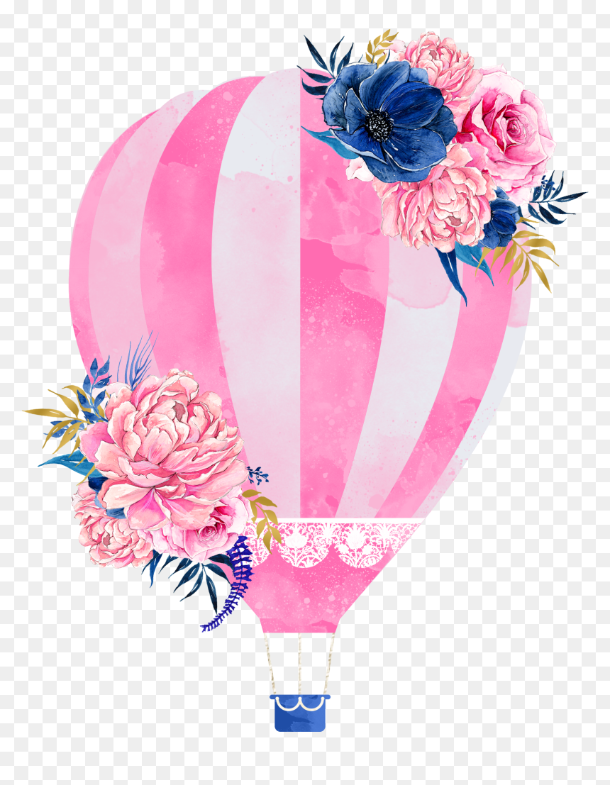 Wedding Invitation Hot Air Balloon Clip Art - Air Balloon Clipart Png, Transparent Png