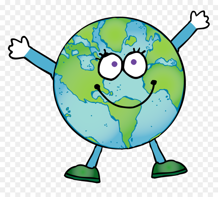 Smarttartslearning An Earth Sized Sale 50 Off At Frog - Happy Earth Cartoon Clipart, HD Png Download