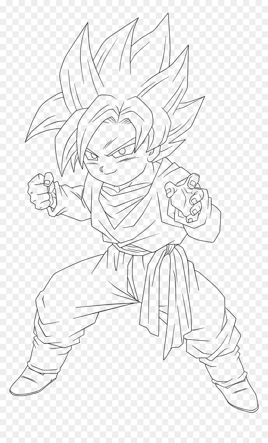 Troncos Dragon Ball Z Coloring Pages Componente Goten Drawing Hd Png Download 2693x4200 Png Dlf Pt