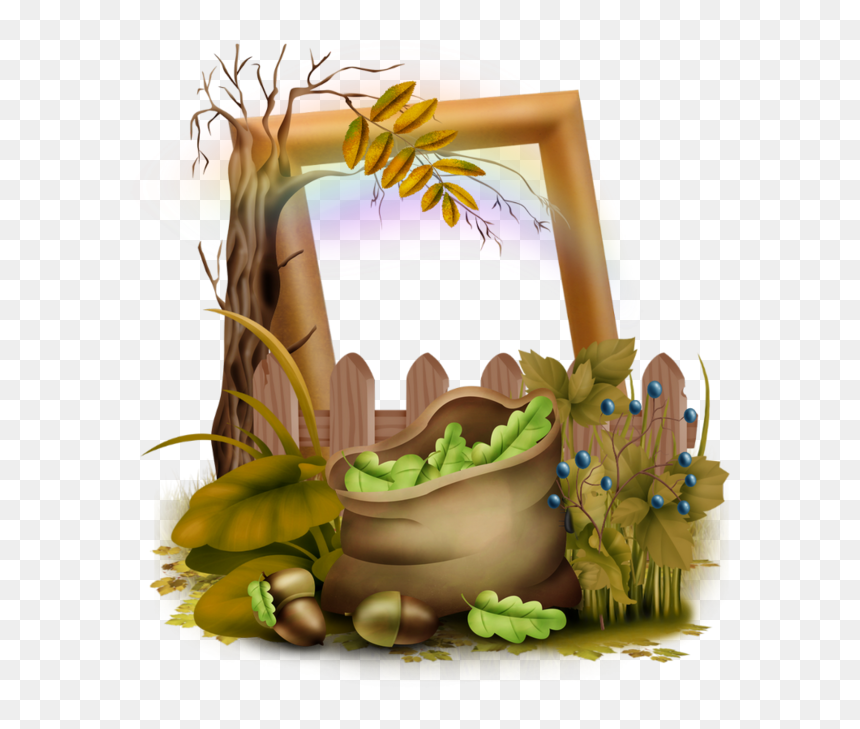 Clipart Bear Autumn Automne Png Transparent Cadre Png Download 600x649 Png Dlf Pt