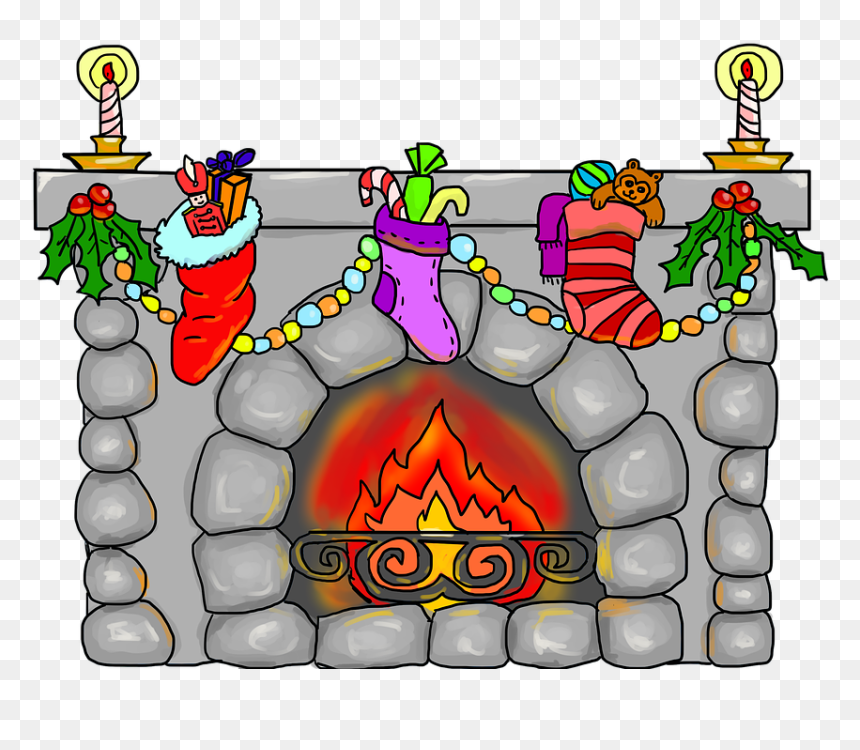 ปล่อง ไฟ คริสต์มาส การ์ตูน, HD Png Download