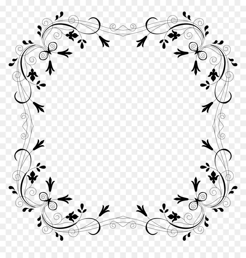 Cyberscooty Floral Border Extended Clip Arts - Flower Calligraphy Border Designs, HD Png Download
