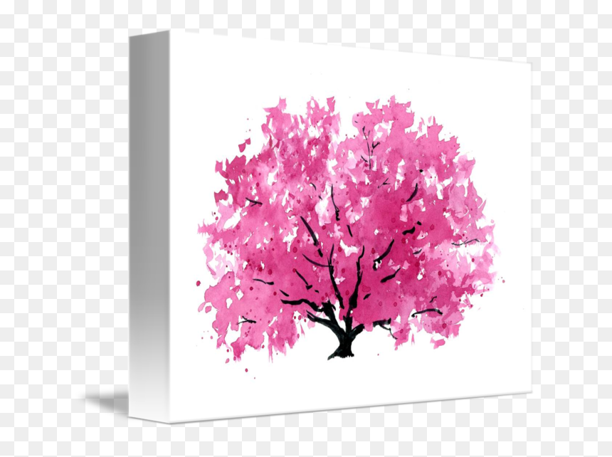 Magnolia Tree Watercolor Painting, HD Png Download