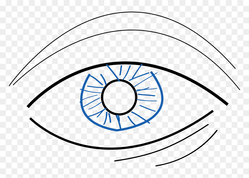 Eye Care And Learning Disabilities - Simple Eye Draw Easy, HD Png Download