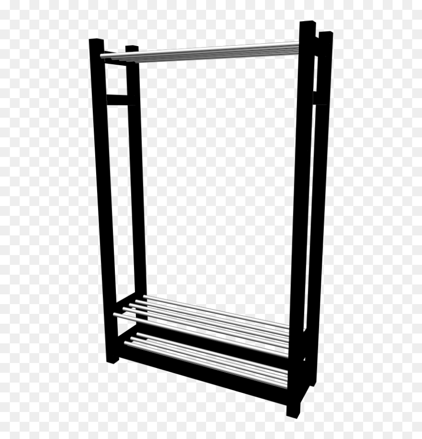 Tjusig Clothes/shoe Rack By Ikea - Clothes And Shoer Rack, HD Png Download