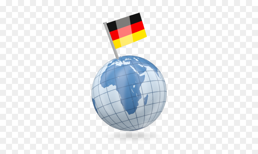 Earth With Flag Pin - Germany Earth, HD Png Download