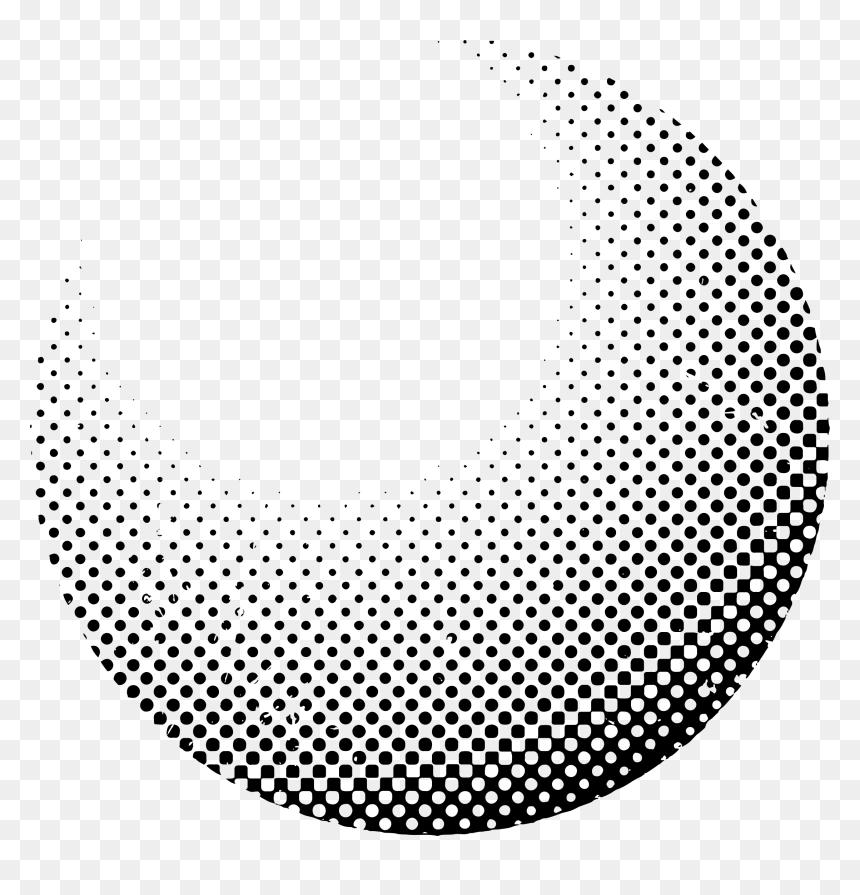 Halftone Circle Png - Half Tone Circle Png, Transparent Png