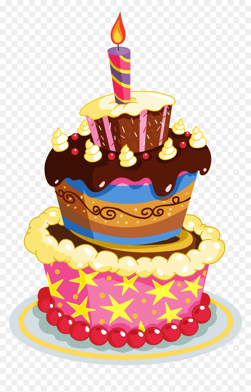 Happy Birthday Cake Transparent, HD Png Download