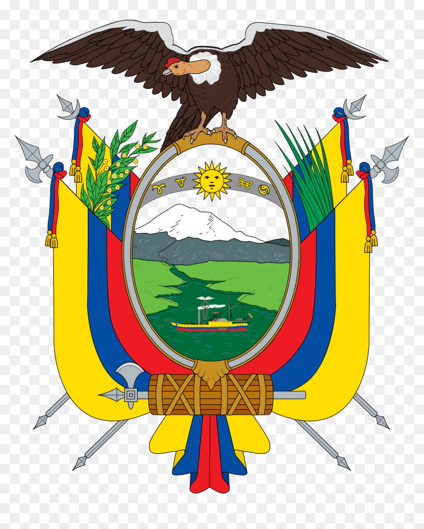 Transparent Escudo De El Salvador Png - Ecuador Coat Of Arms, Png Download