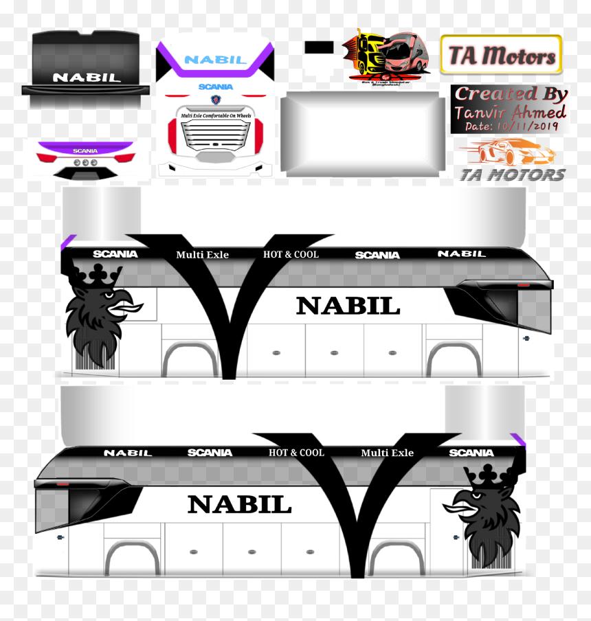 Bd Bus Skin Nabil Classic, HD Png Download