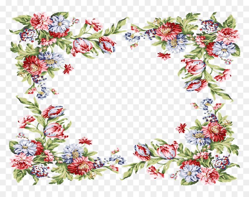 Marcos Para Fotos De Flores - Floral Border Design Png, Transparent Png