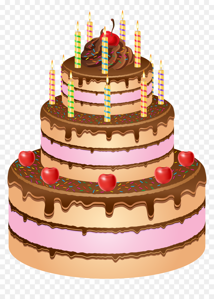 Happy Birthday Cake Png Clip Art Image - Happy Birthday Cake Png, Transparent Png