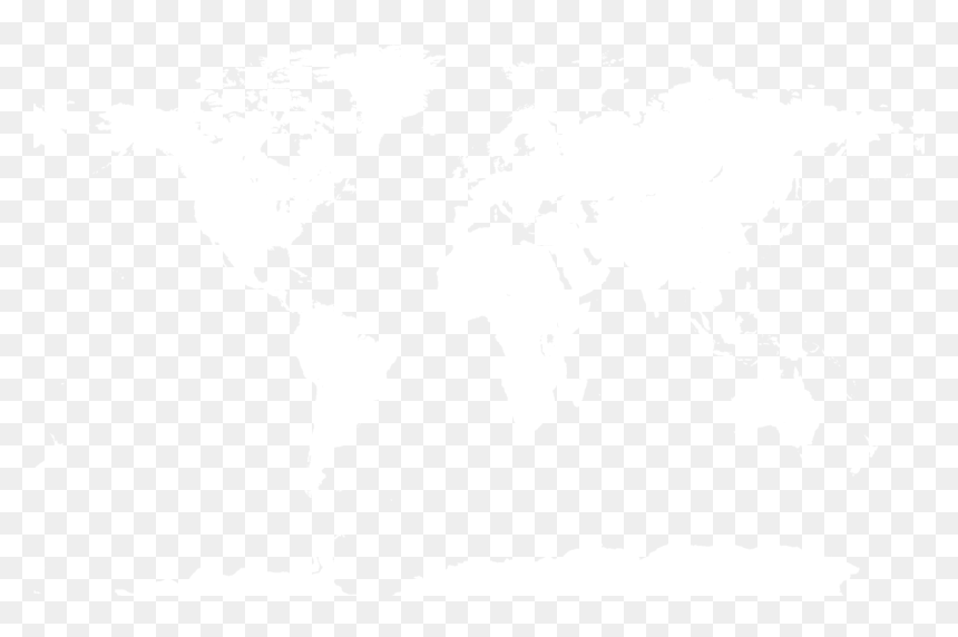 Transparent Earth Texture Png - Earth Map Black White, Png Download