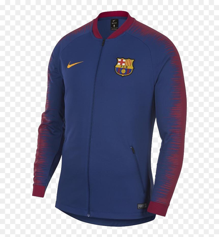 """Fc Barcelona 18/19 Anthem Track Jacket""""  Title=""""fc - Fc Barcelona Jacket 2018 19, HD Png Download"""