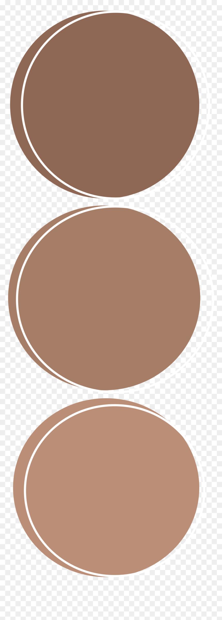 #brown #aesthetic #circle #circles #freetoedit - Circle, HD Png Download