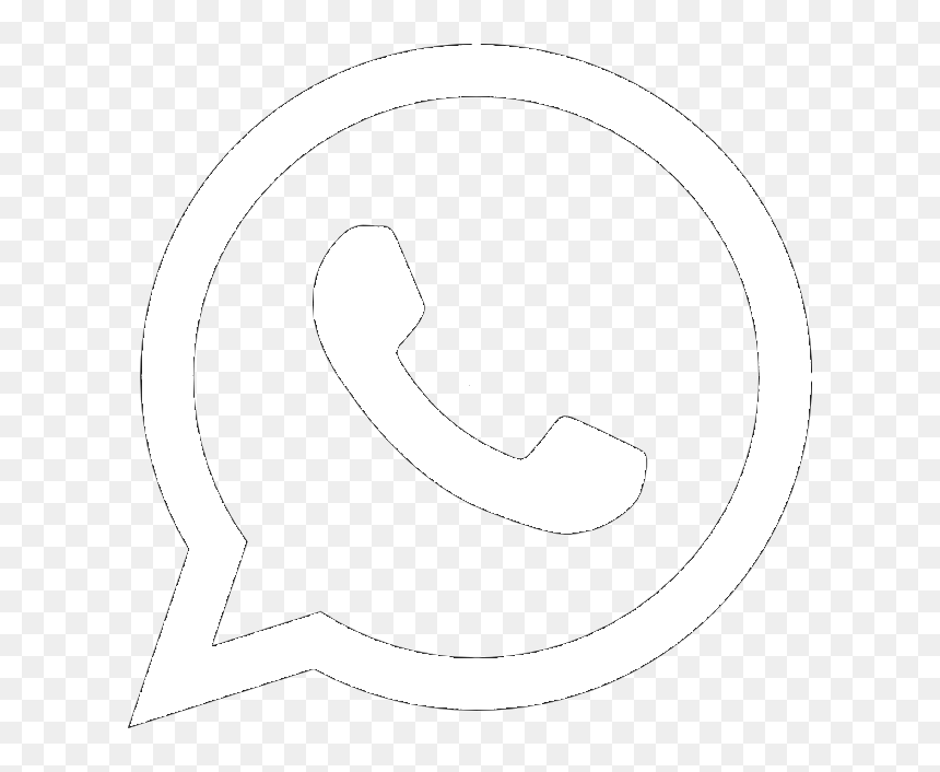 Logo Whatsapp Branco Png, Transparent Png