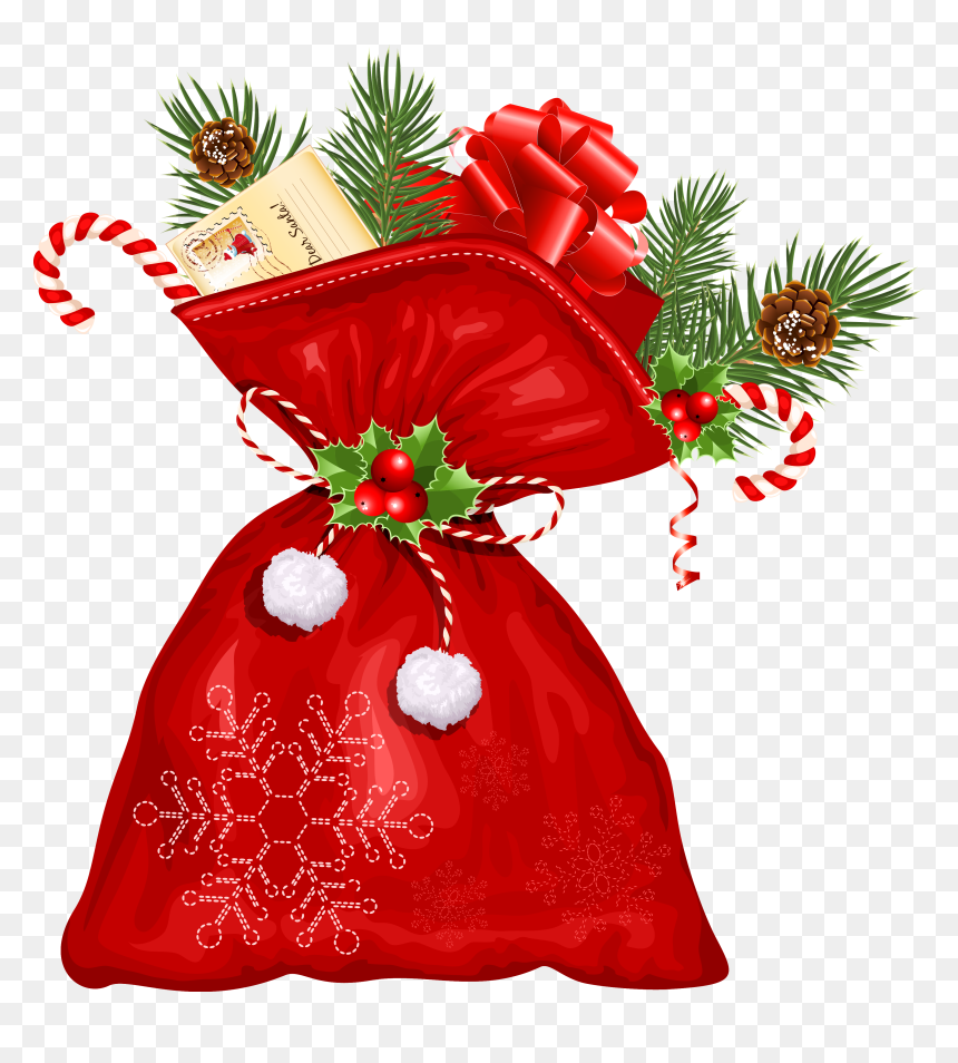 Santa Claus Bag Png, Transparent Png