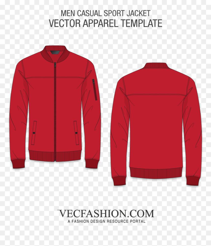 Black Jacket Template Png, Transparent Png