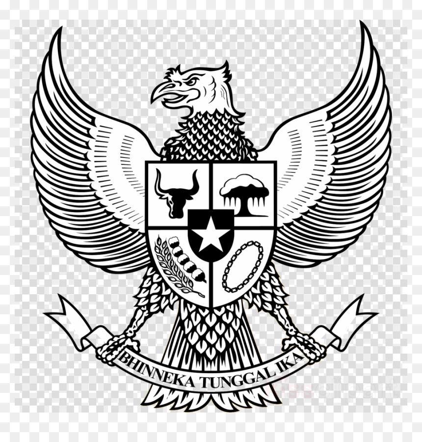 Garuda Pancasila Hitam Putih Png, Transparent Png
