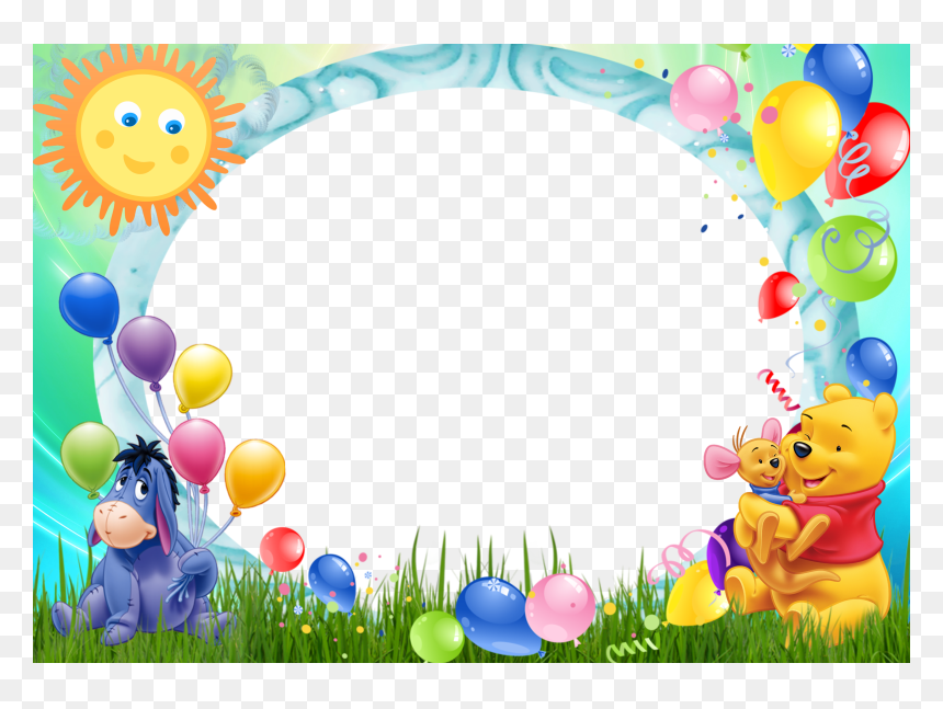 Winnie The Pooh Birthday Background, HD Png Download