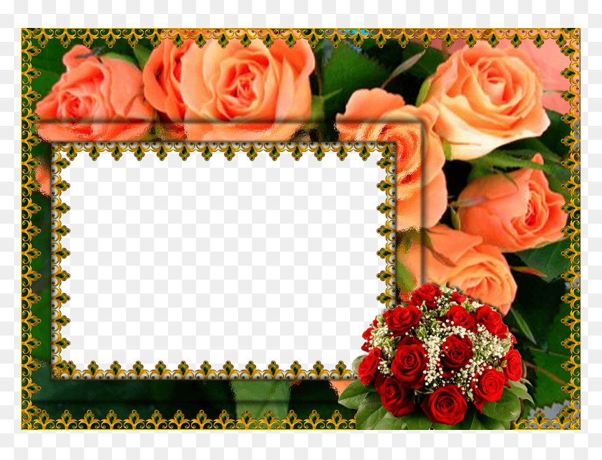 Hd Flower Photo Frame, HD Png Download