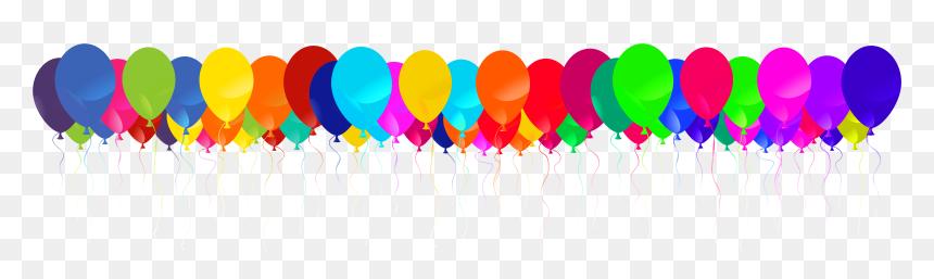 Birthday Balloon Png Border, Transparent Png