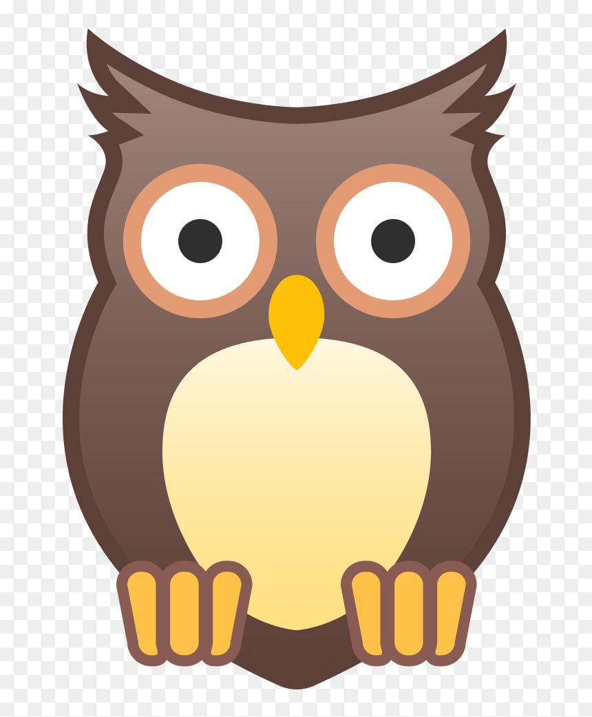 Owl Icon - Owl Emoji Svg, HD Png Download