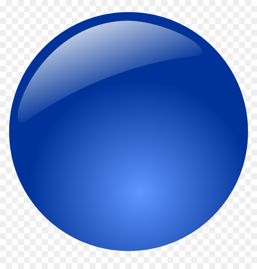 Blue Glossy Button Png, Transparent Png