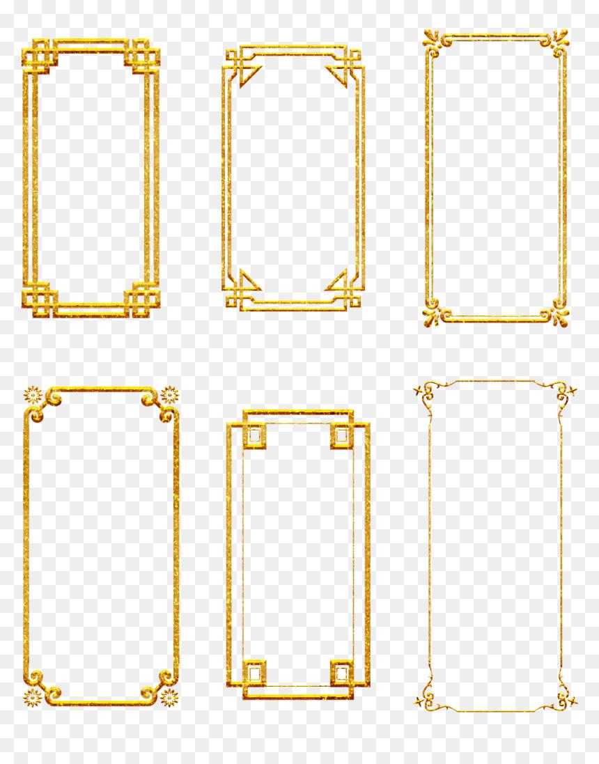 กรอบ รูป สี ทอง Png, Transparent Png