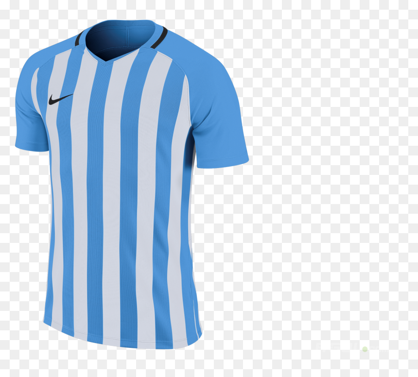 Nike Blue And White Striped Football Shirt, HD Png Download