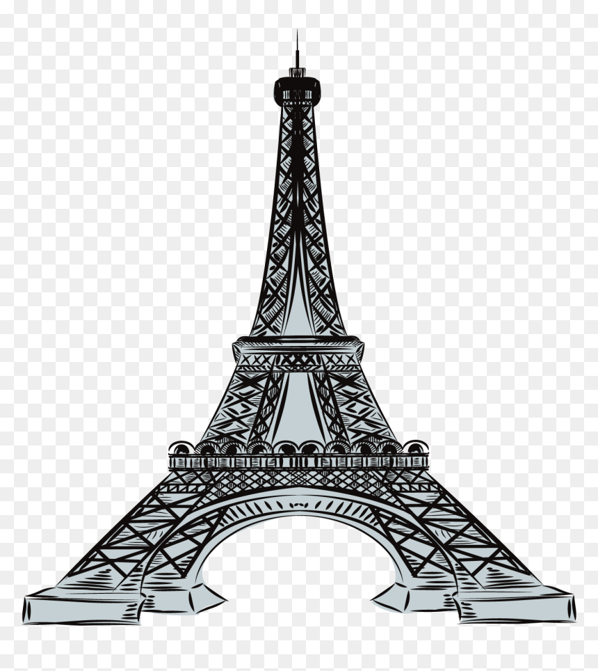 Gambar Menara Paris Hitam Putih HD Download 1500x1500