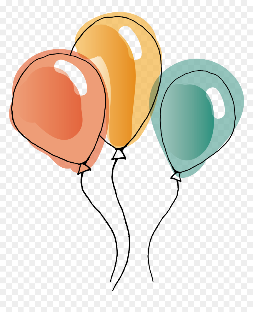 Watercolour Balloon Transparent Background, HD Png Download