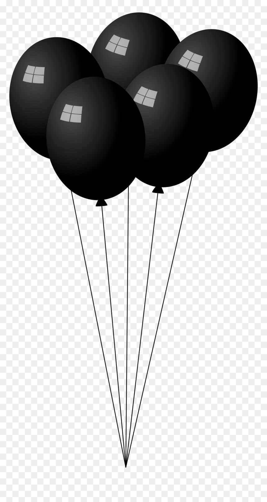 Black Balloons Clipart, HD Png Download