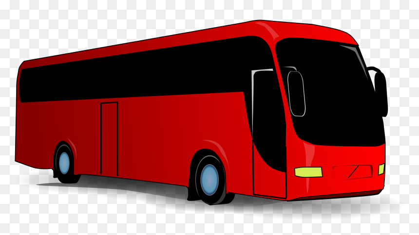 Red Bus Clipart, HD Png Download
