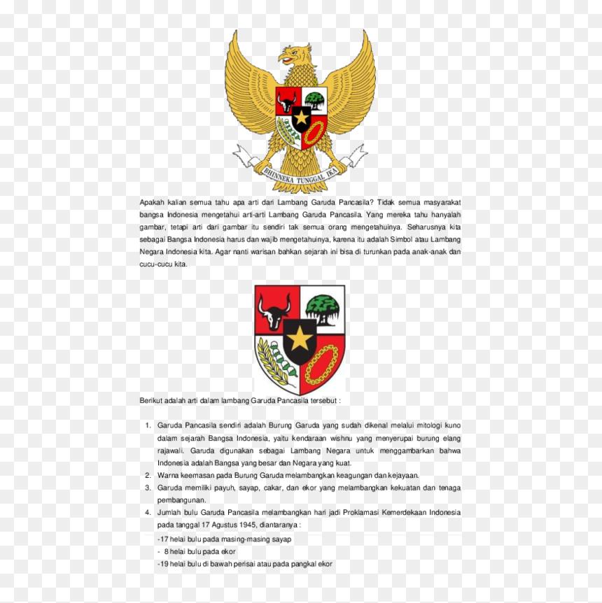 Arti Lambang Garuda Pancasila, HD Png Download
