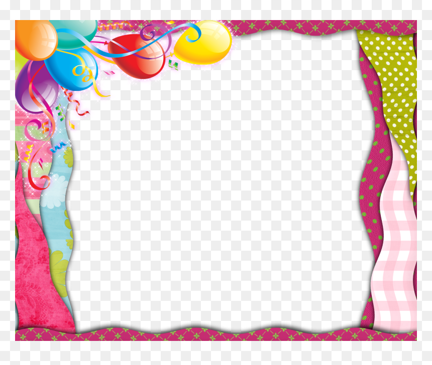 Happy Birthday Girl Frame, HD Png Download