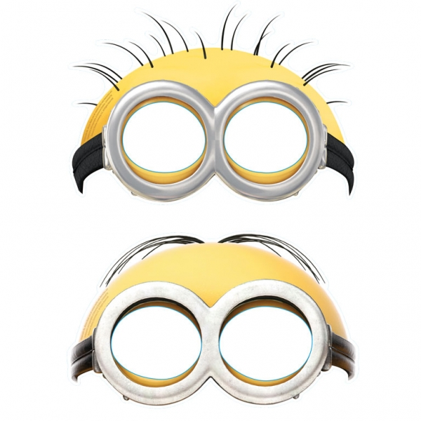 It's just a picture of Free Printable Minion Eyes with regard to purple